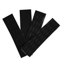 4 Pieces EVA Skimboard Traction Pad Bar Deck Grips Surfboard SUP Surf Black