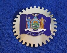 Chrome New York Grille Badge License Plate Topper Accessory Trunk Bumper Badge