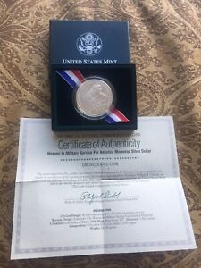 1994 Women in the Military Commemorative Uncirculated Silver Dollar