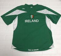 Mens Umbro Ireland Soccer Jersey Size Large Green Nice!