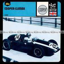 #10.13 COOPER CLIMAX Photo : JACK BRABHAM GP Monaco 1959 - Fiche Auto Car Card