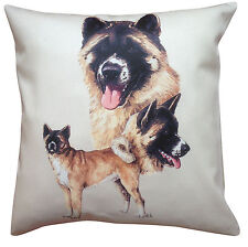 More details for akita breed of dog group cotton cushion cover - perfect gift