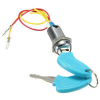 2 Wire 2 Keys Ignition Key Switch Lock Go Kart Scooter Electric Bikes  !