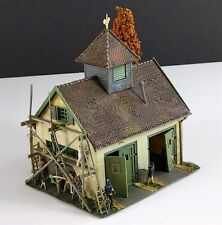 Faller 268 Rural Country Fire Station Vintage HO Scale Building Built