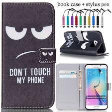 Handy Tasche Bookstyle Flip Wallet Cover Case Schutz Hülle Etui Schwarz + Stylus