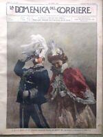 La Domenica del Corriere 25 Giugno 1899 Sovrani Cani da Caccia Scultura Grandine
