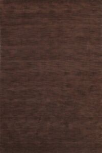 Contemporary Solid Modern Gabbeh Oriental Area Rug Hand-knotted Wool Carpet 6x9