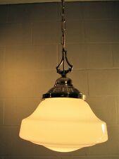 Pendant Light Large School House Chandelier Antique Globe & Ornate Brass Fitter