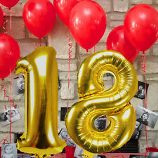 16''/40cm Gold Silver Foil  Numbers Balloon Birthday  Party Decoration 18