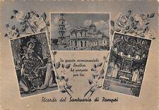 835) RICORDO DEL SANTUARIO DI POMPEI (NAPOLI) 3 VEDUTINE. VIAGGIATA.