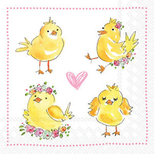 Boston International - Easter Chicks Cocktail Napkin - C914900