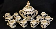 Vintage Gerz Tureen/Punch Bowl & 12 Cups, Made in Germany