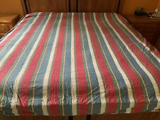 Vtg RALPH LAUREN Double Full Striped Duvet Dust Ruffle & Two Euro Shams ~