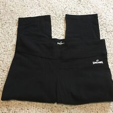 Spalding Black Fitted Capri Workout Pants Size Small
