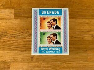 GRENADA 1973 MNH PRINCESS ANNE WEDDING MARK PHILLIPS MINISHEET
