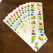 10 Mrs Grossmans Chubby Bugs Stickers Insects Googly Eyes Beetle Butterfly Moth
