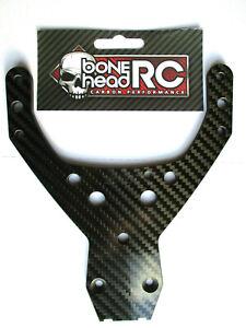 BONEHEADRC CARBON FRONT UPPER PLATE, 4MM CNC COMPATIBLE WITH HPI BAJA 5B/SS/5T