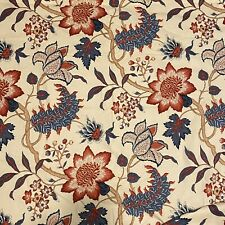 Bay Linens Hycliff Window Pannel Curtains Cream Red Blue Floral Berry