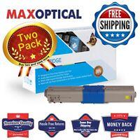 Max Optical 2Pack Oki 44469701 (Type C17) Compatible Toner- Yellow