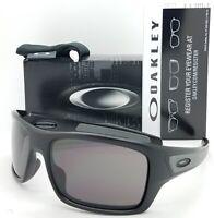 NEW Oakley Turbine sunglasses Matte Black Warm Grey 9263-01 AUTHENTIC 9263-01