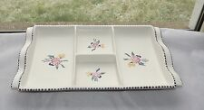 Poole Pottery Traditional 4 Section Hors D'oeuvres Serving  Dish Tray 1960s