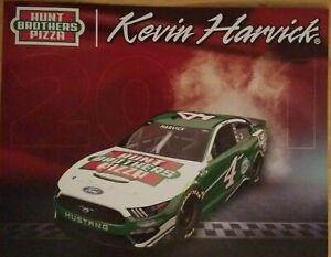 2021 KEVIN HARVICK #4 HUNT BROTHERS PIZZA NASCAR POSTCARD