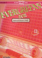 Play Along EVERGREENS FOR Baritone / Trombone C Grade 3 + CD - NEUF