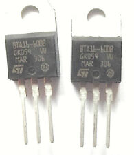 BTA16-600B  ST TRIAC 600V 16A 3-Pin TO-220A x2pcs