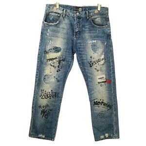 LTB Womens Jeans Embellished Distressed Size 30 Measure 32 x 30