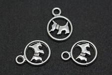 Wholesale 20pcs Nice Two-sided Dog Charm Bracelet Finding Pendants 19X14mm