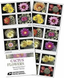 2019 Cactus Flowers Mint Booklet of 20 Forever Stamps #5359a Weddings Succulents