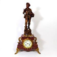 Historismus Kaminuhr con personaggio stupendo orologio da tavolo, buffetuhr, marmo, régule, pendule odo