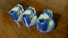 20 JAT Pointer Knobs With Set Screw, Fits Guitar Amps and Pedals... Blue/White