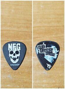 New Found Glory NFG Ian Grushka Kill it Live skull Tour Band Black Guitar Pick