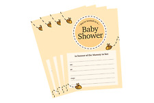 Bumble Bee Baby Shower Unisex Premium Invitations A6 Cute Invites PACK OF 10