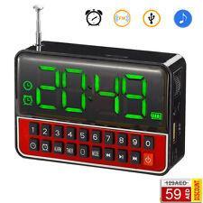 RADIO SVEGLIA CASSA SPEAKER OROLOGIO DIGITALE USB MicroSD MP3 MULTIMEDIA WS-1513