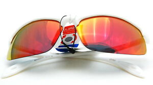UV48091 Red RV Polarized for Man and Woman Sports Sunglasses in while frame