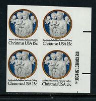 SCOTT 1768a 1978 15 CENT CHRISTMAS ISSUE IMPERF ZIP BLK OF 4 MNH OG VF APS CERT!