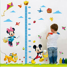 Mickey Minnie Mouse Birds Height Measurement Chart Kids Wall Stickers Decal DIY