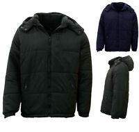 Stitch Dodge Mens Parka Puffer Jacket Quilted Detachable Hoodie Puffy Padded