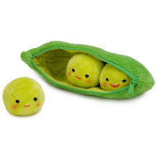 "Disney Store 3 Green Peas-in-a-Pod Plush Mini Bean Bag 8"" New Toy Story 3"
