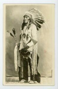 Antique Native American / Indian Real Photo Postcard / RPPC Moose Mountain