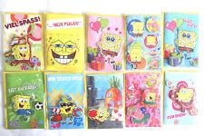 Spongebob Grusskarten mit Umschlag  10 Stück verschiedene siehe Bild