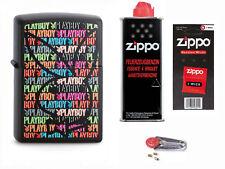Zippo Playboy Logo Bunt + Starter Pack mit Benzin,Docht,Feuersteine 2003524
