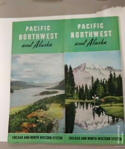 1940's Chicago And North Western Railroad Pacific Northwest & Alaska Pics & Maps