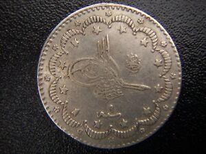 ISLAMIC ARABIC OTTOMAN EMPIRE TURKEY CONSTANTINOPLE 1293/9 5 KURUSH SILVER COIN