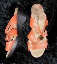 Rivers: Size: 8 or 39 Comfy ORANGE zelco strapes  Slip-On Shoes