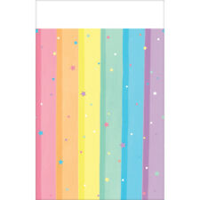 Party Supplies Birthday Girls Rainbow Pastel Magical Rainbow Tablecover