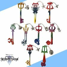 9pcs Kingdom Hearts Weapon KEY BLADE Metal Pendant Cosplay Colorful NO Box