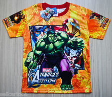 Marvel The Avengers Boys Girls Kids T Shirt Size 10 Age 6-8 #06 NEW FREE SHIP